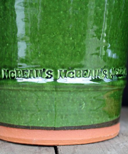 McBean's special personalised ceramic pots - ideal for home potting your indoor plant.